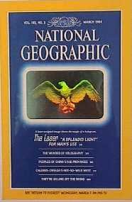 National Geographic Eagle Hologram Cover 1984 (1st hologram series)