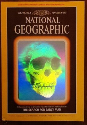 National Geographic Hologram Skull Cover 1985