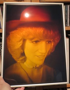 Holographic portrait of the late Princess of Wales: Diana